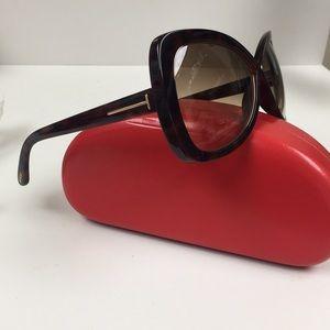 Tom Ford Cat Eye Tortoise Gold Sunglasses